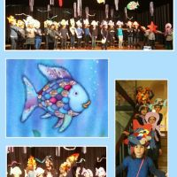 P5 students performed the Rainbow Fish theatre